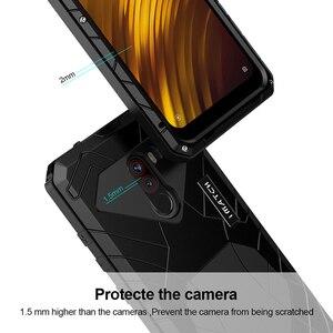 Image 3 - 샤오미 mi Pocophone F1 X2 전화 케이스 Hard Alu mi num 샤오미 9 9T 9T Pro 용 금속 강화 유리 스크린 보호기 커버