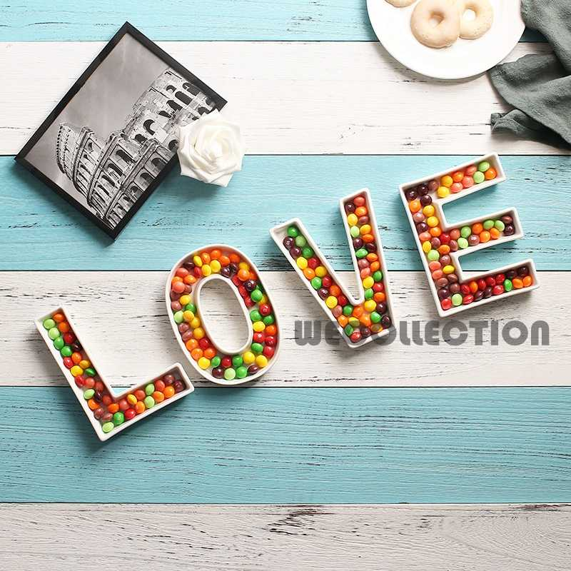 Miraculous Love Ceramic Candy Letter Dishes For Candy Table Love Dessert Plate Wedding Candy Bar Ideas Baby Shower Wedding Decoration Interior Design Ideas Inesswwsoteloinfo