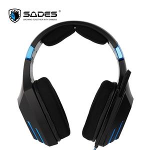 Image 3 - SADES Spellond Pro Bongiovi Acoustics Gaming Headset Deep Bass Vibration Headphone Omnidirectional Microphone