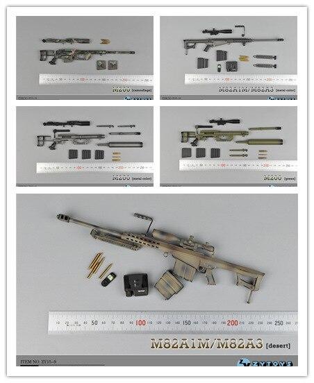 """1/6th Escala Rifle De Francotirador M82 Y M200 Para La Figura Doll.12 """"figura De Acción De Muñeca Accesorios Armas Para Muñecas. Modelo De Plástico Las Mejores SandíAs"""