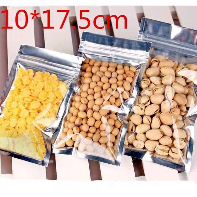 10x17.5cm Plastic Aluminum Foil Package Packing Mylar Bag Self Sealing ZIpper Zip Lock Packaging Bag