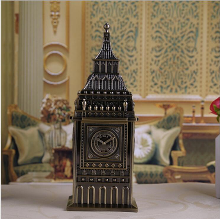 L'europe en alliage de zinc en métal support pour cure-dents automatique Big Ben boîte à cure-dents cure-dents pour la maison décoration YQT026A