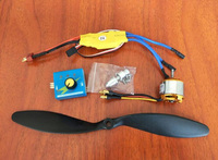 1set DIY Brushless Motor Fan Kits 1047 Propeller+XXD 30A Brushless ESC+1000kv Brushless Motor+Adapting Cable+Manual Governor Set
