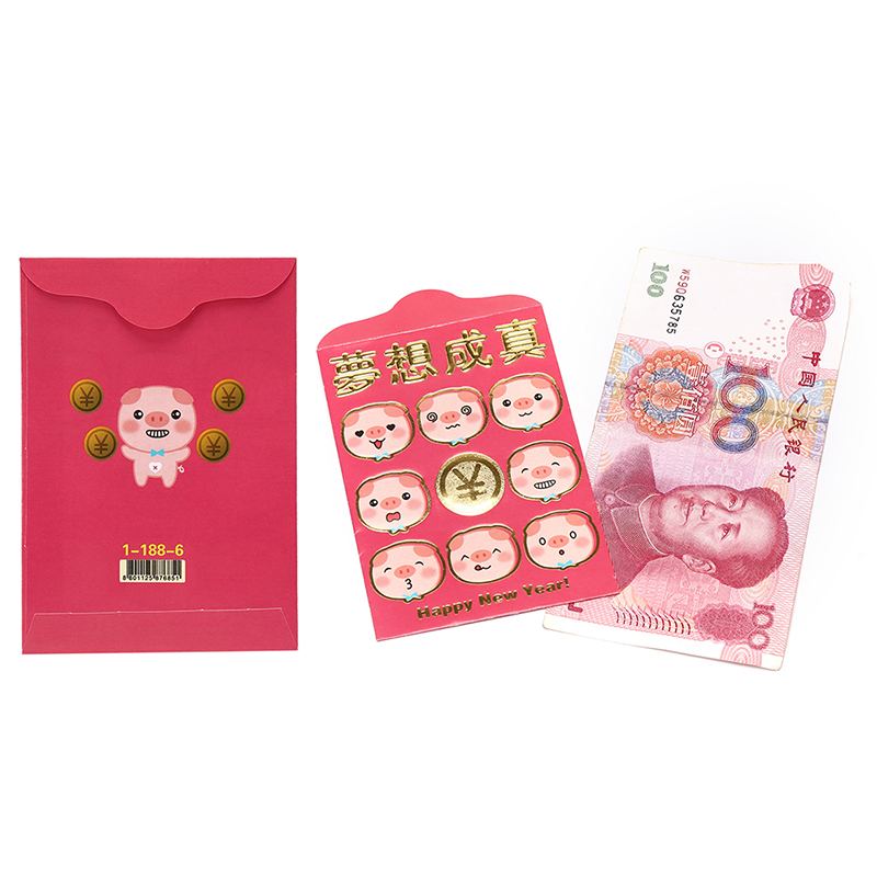 Peerless 6pcs/pack Red Envelope To Fill In Money Chinese Tradition Hongbao Gift Present New Year Wedding Red Envelope Gift Beautiful And Charming Mail & Shipping Supplies Paper Envelopes