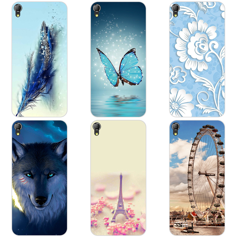 Soft Silicone Phone Case For Alcatel One Touch Idol 3 5.5 inch 6045 6045Y 6045K Colorful Painting Phone Back Cover Case Bag 5.5
