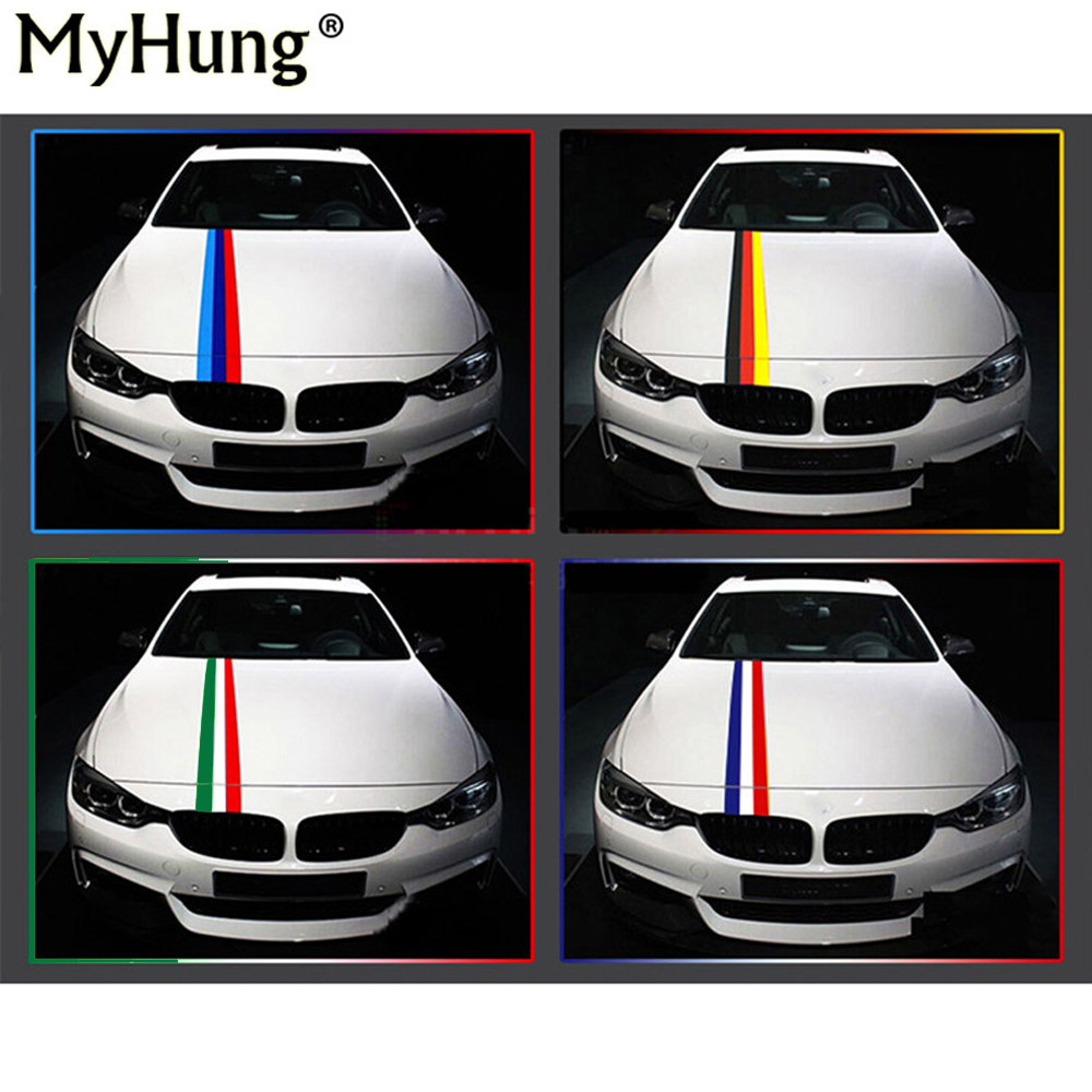 Car full body sticker design - Car Styling General Personality Three Color Bar Car Whole Full Body Decal Sticker For