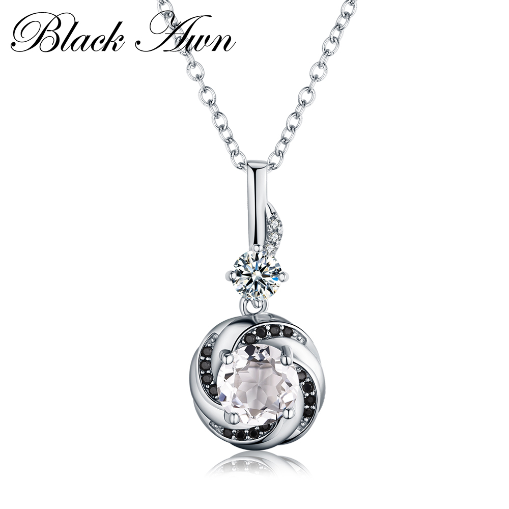 Silver Necklace 925 Sterling Silver Fine Jewelry Trendy Engagement Necklaces For Women Wedding Necklaces Pendants P159