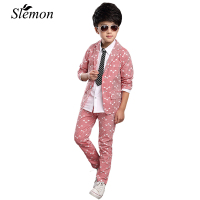 Boys Suits 2017 Spring Autumn New Style Children Kids Wedding Party Clothes 2 Pieces Sets Pink