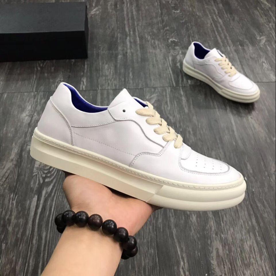 Envío rápido 2019 primavera y otoño punta redonda zapatos de hombre de alta calidad zapatos casuales de cuero genuino cómodos planos-in Zapatos informales de hombre from zapatos    1