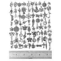 00Pcs Wholesale Bulk Tibetan Silver Mix Pedants Charms Bracelets Necklace Clothing