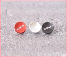 Câmera de superfície côncava de metal, botão macio de liberação para fujifilm fuji xt20 x100f X-T2 x100t X-T10 x20 xt3 com borracha anel de anel