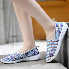 2018 light  Sneakers Women Breathable colorful Upper Platform Shoes running Feminino Casual female mom shoes