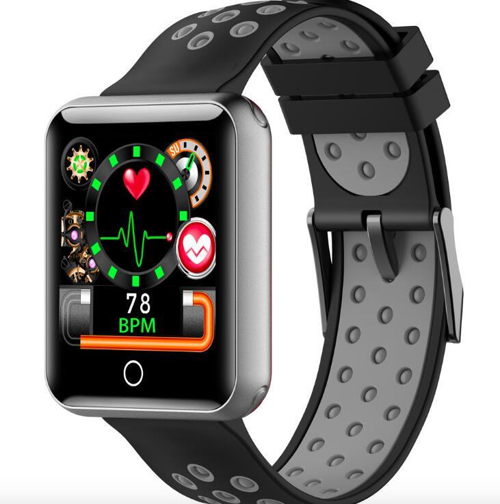 Nouveau Q18 1.54 pouces écran couleur Bluetooth IP68 écran tactile fréquence cardiaque pression artérielle surveillance du sommeil sport montre intelligente bracelet