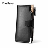 Baellerry Luxury Brand Men Wallets High Capacity Clutch Bag Leather Men Clutch Wallet Coin Purse Male