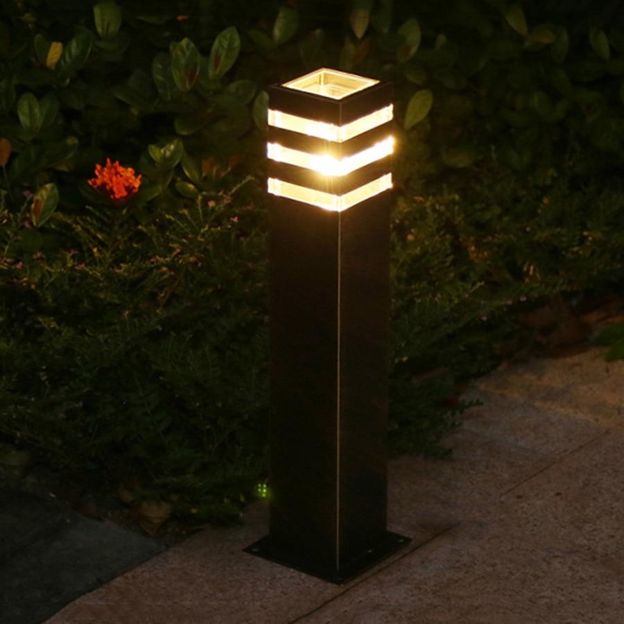 de alumínio paisagem parque rua bollard luz