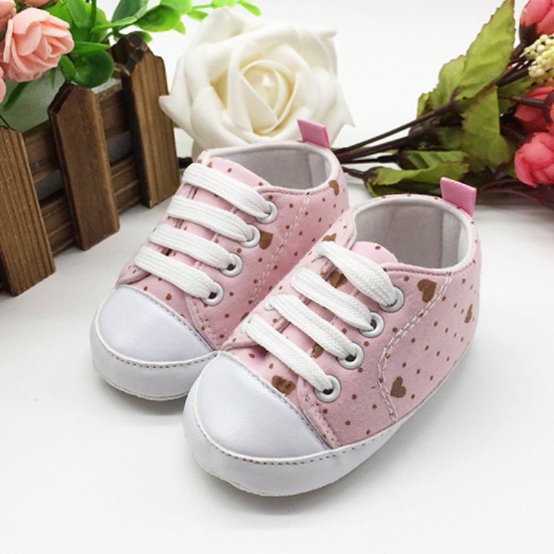 Infant Shoes Toddler Newborn Baby Girl Boy Sports Sneakers Soft Bottom Anti-slip T-tied First Walkers Prewalker