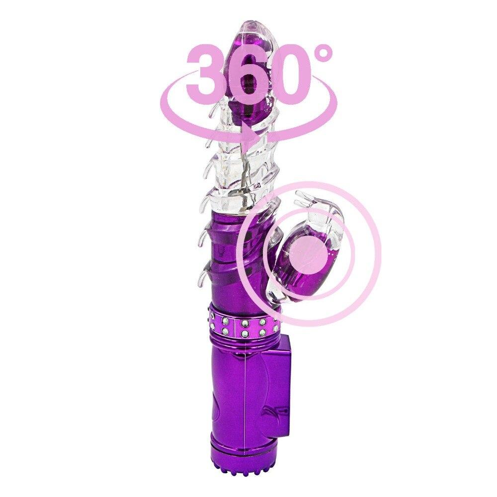 Wiederaufladbare Doppel Vibratoren für Frauen Drehende Vibrierende Klitoris Vagina Kaninchen Dildo Vibrator Sex Spielzeug für Frau Sex Maschine