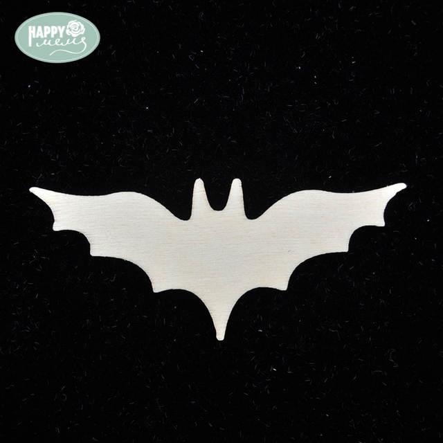Wood Shapes Bat 24pcs Unfinished Wooden