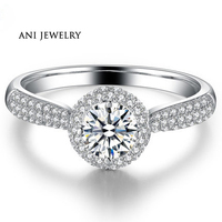 0 3 CT Bridal Natural Real Certified I J SI Diamond Bague Round Cut Halo Engagement