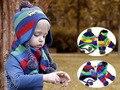 Nova Moda Inverno Crochet Crianças Beanie & Conjuntos Lenço de Bolso Bebê Chapéus Menino Earflap Chapéu Do Inverno Do Bebê [MZ23513]