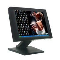 Wearson 12 inch Resistive Touch Screen Computer LCD Monitor With Heavy Stand POS Monitor