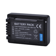 Tectra 1PC VW VBY100 VW VBY100 Li ion Camera Battery for HC V130 HC V130K HC