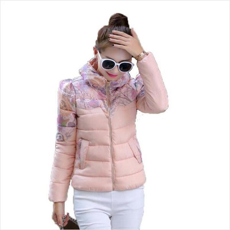 2016 new stand collar winter jacket women jacket short slim thickening cotton padded jacket female outerwear