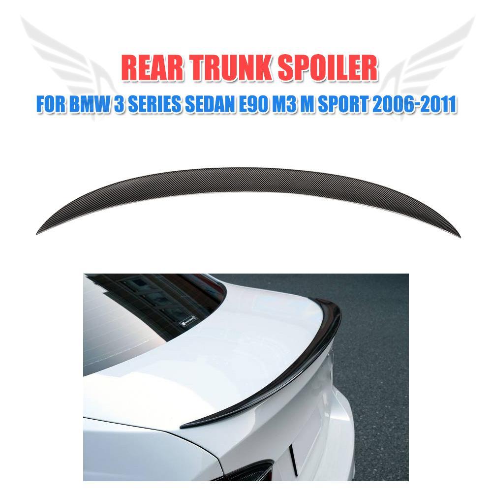 P Style For F30 Carbon Fiber Rear Trunk Boot Lip Wing for BMW 3 Series E90 E92 E93 F30 F80 M3 M Sport323i 325i 328i 335i 05- 17 soarhorse car rear trunk lid emblem badge chrome letters 320i 325i 328i 330i 335i sticker for bmw 3 series e30 e36 e46 f30 e90