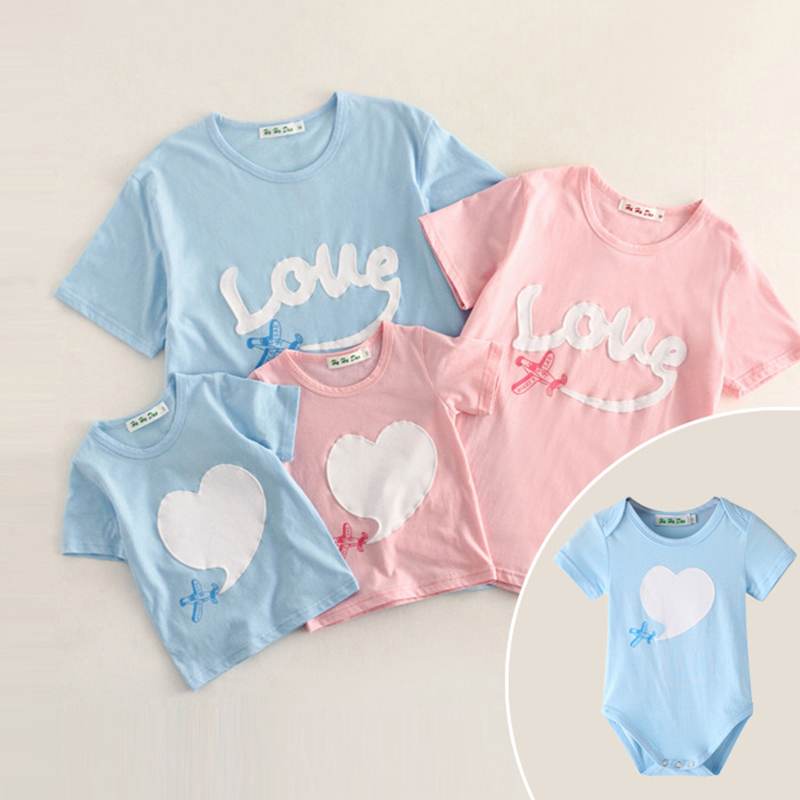Mother And Daughter Cotton Heart Lovely Family Matching Shirt