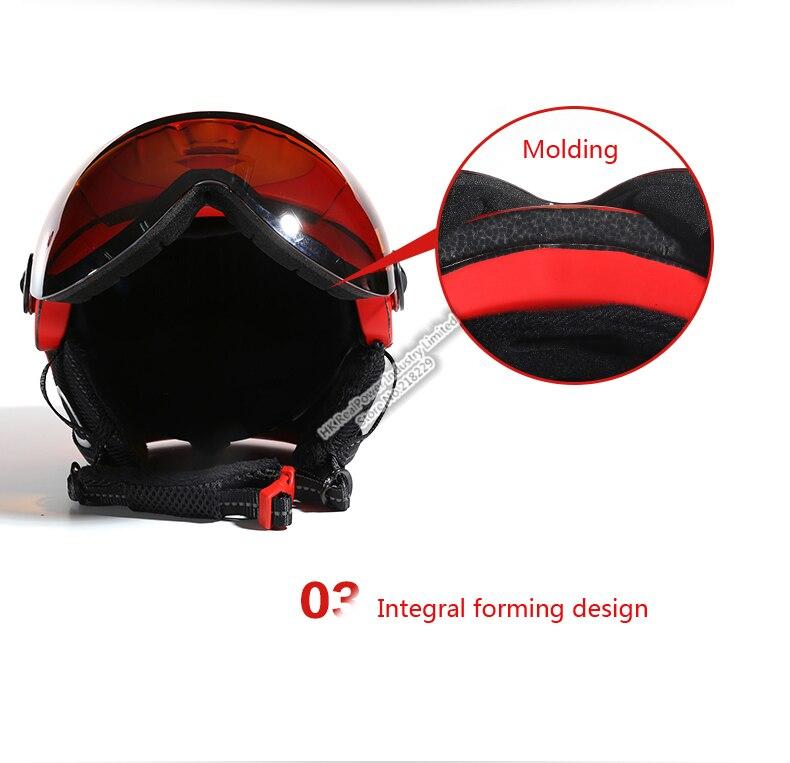 Esqui LUA Capacete com óculos de proteção