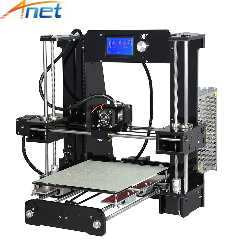 Anet Normal&autolevel A6 A8 3D Printer Kit High Precision Reprap i3 DIY 3D Printing Machine+ Hotbed+Filament+SD Card+LCD 2017 high quality anet a6 a8 normal