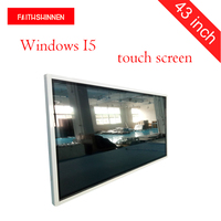 43 inch Windows I5 wall mounted digital advertising player totem touch screen signage monitor