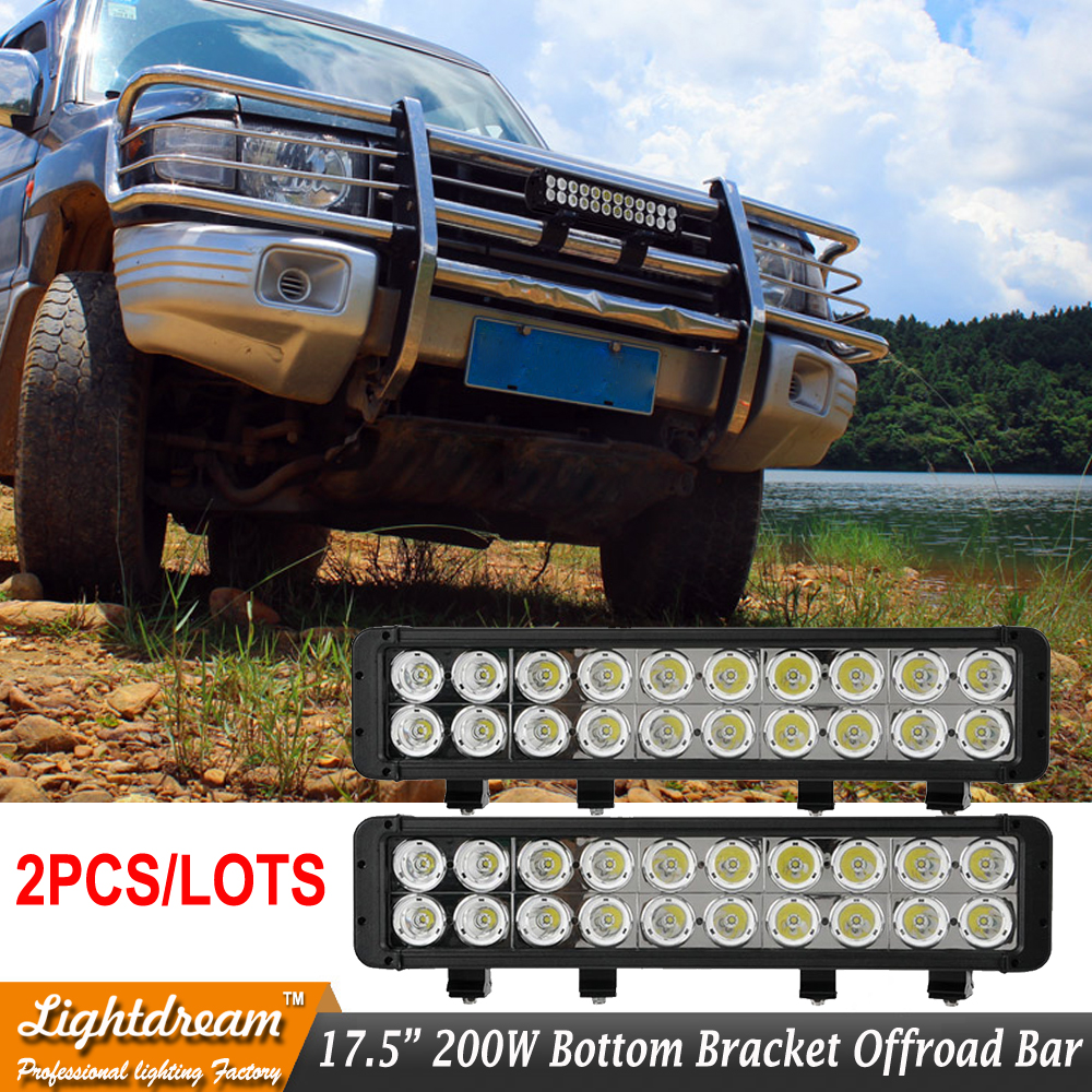 Pair 200W led light bar Used 10W USA Chips 12V Spot Flood Combo Beam Driving Headlight Bar LED BAR LIGHT For Car Truck SUV ATV co light rgb 22 5d 120w work light bar led chips for offroad truck spot flood combo beam 4x4 4wd atv suv 12v 24v