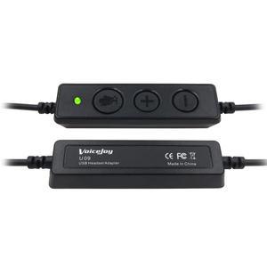 Image 4 - Voicejoy 콜 센터 헤드셋 (마이크 포함) 컴퓨터 및 pc 볼륨 제어 및 음소거 스위치 용 usb 플러그 헤드폰