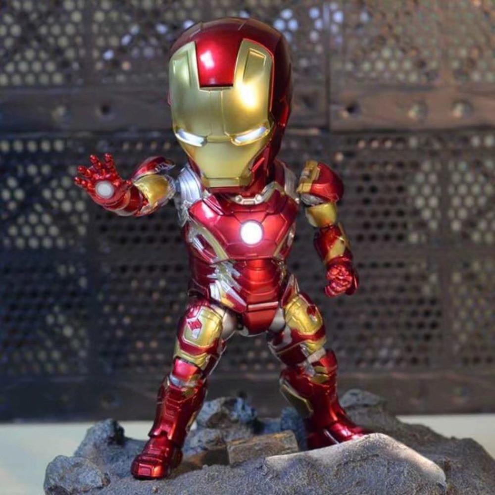 Attacco uovo Super Hero Iron Man MK43 Light & Funzione di Azione Moveable Action PVC Figure Da Collezione Model Toy Dolls 18 cmAttacco uovo Super Hero Iron Man MK43 Light & Funzione di Azione Moveable Action PVC Figure Da Collezione Model Toy Dolls 18 cm