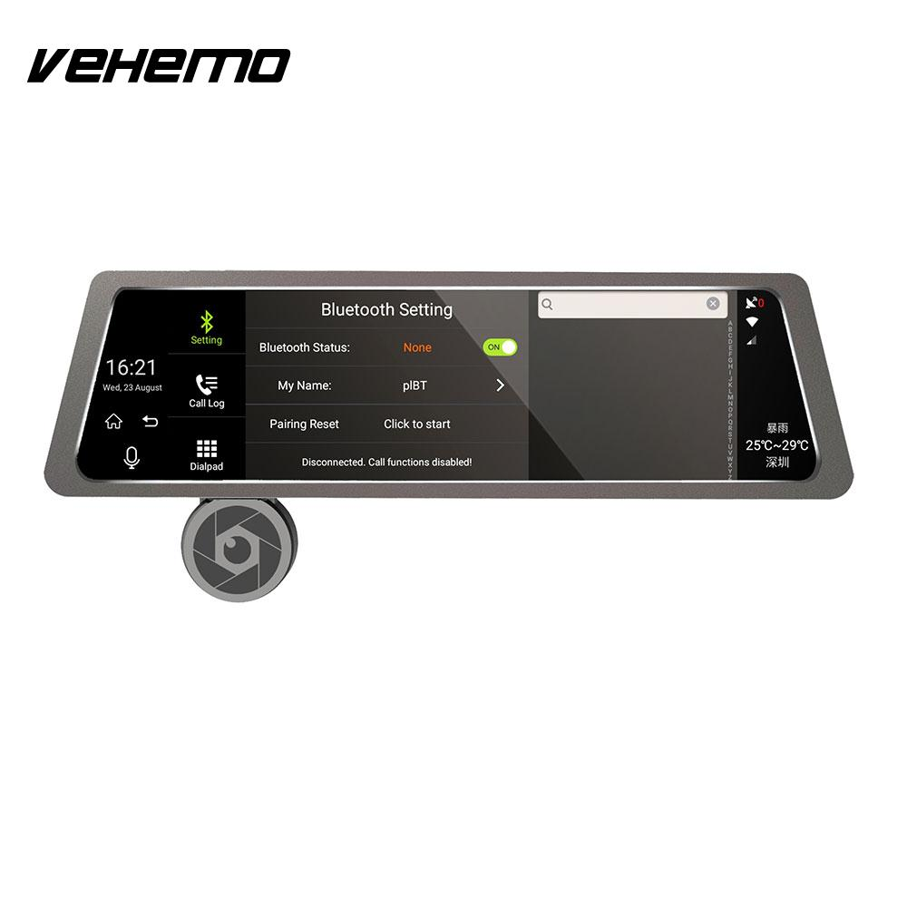Vehemo Night Vision Backup Camera Photography Reviewer Mirror Universal Recorder Car Rear View Monitor Touch Screen Durable image