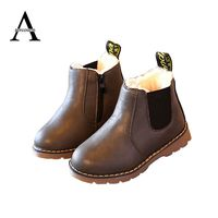 2015 New Chaussure Enfant Children Snow Boots PU Leather Kids Sneakers Children Martin Boots Fashion Boys