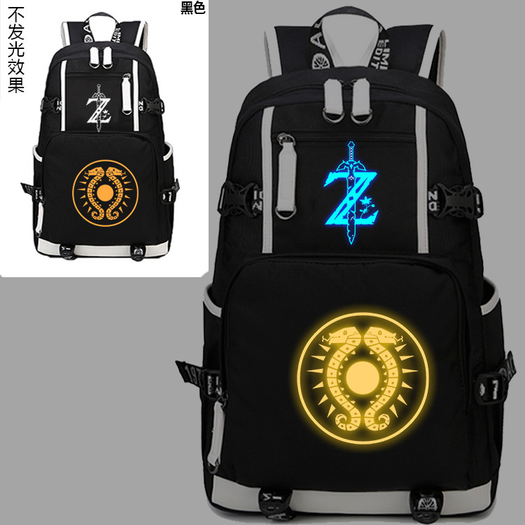 New The Legend of Zelda Luminous Backpack Cosplay Breath of the wild Eye Student Schoolbag Unisex Travel Shoulder Laptop Bags 4