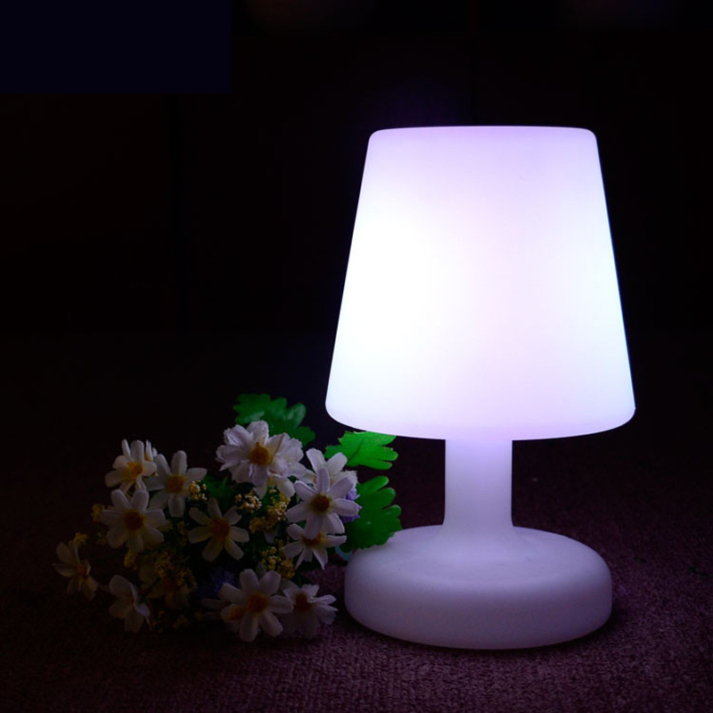Rechargeable LED Table Desk Light IP65 Waterproof Bar Party Decor Home Lighting RGB Colorful LED Night Lamp By Remote Control