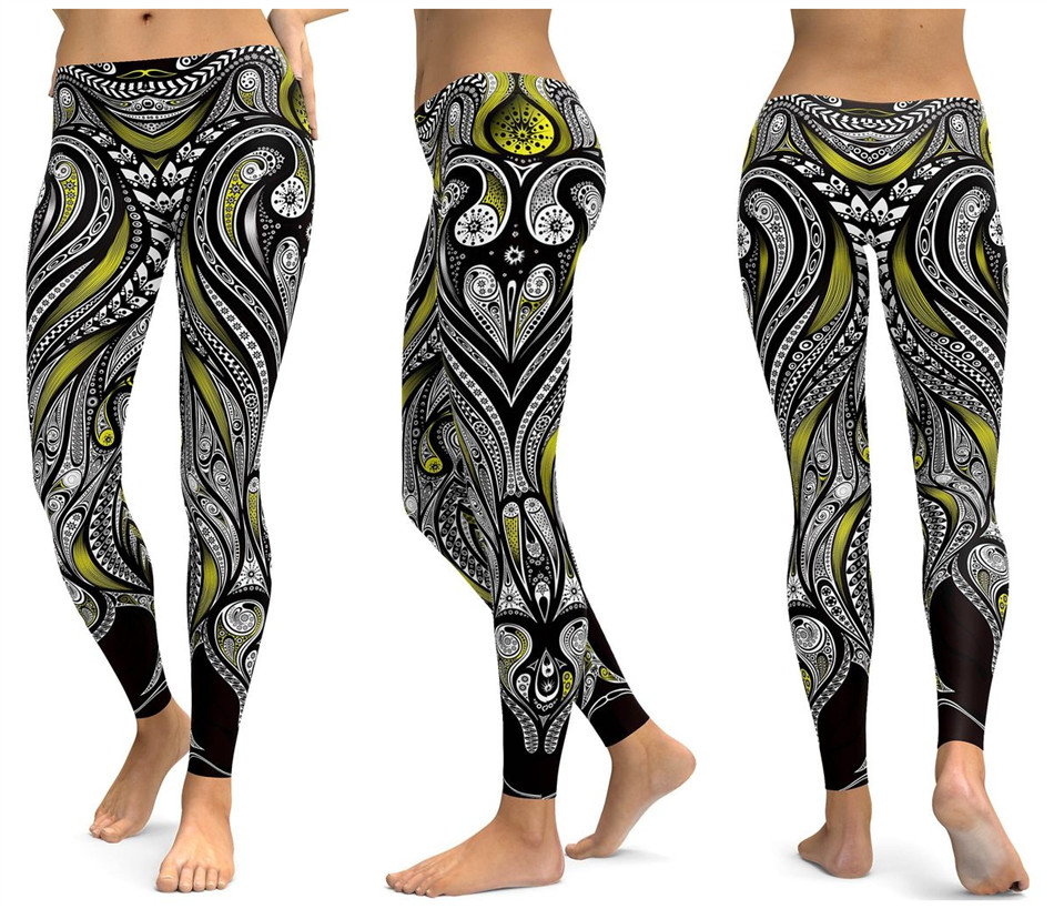 Print Yoga Pants Women Unique Fitness Leggings Workout Sports Running Leggings Sexy Push Up Gym Wear Elastic Slim Pants 21