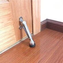 цена на Large Size Kick-Down Door Holder Zinc Alloy and Rubber Bottom Door Stopper Heavy-Duty Door Foot Holder
