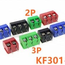 20 шт./лот KF301-5.0-2P KF301-3P шаг 5,0 мм прямой контакт Американская классификация проводов 2р 3P винт клеммный блок печатных плат разъем, синий, зеленый, красный