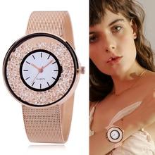 Горячая Распродажа мода нержавеющая сталь, розовое золото и серебряный браслет Кварцевые часы Роскошные женщины Rhinestone платье часы Dropshiping подарок