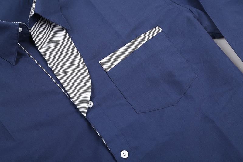 2017 new brand long sleeve shirts social male 5 colors slim fit  striped shirts plus size 3xl mens dress shirts 4