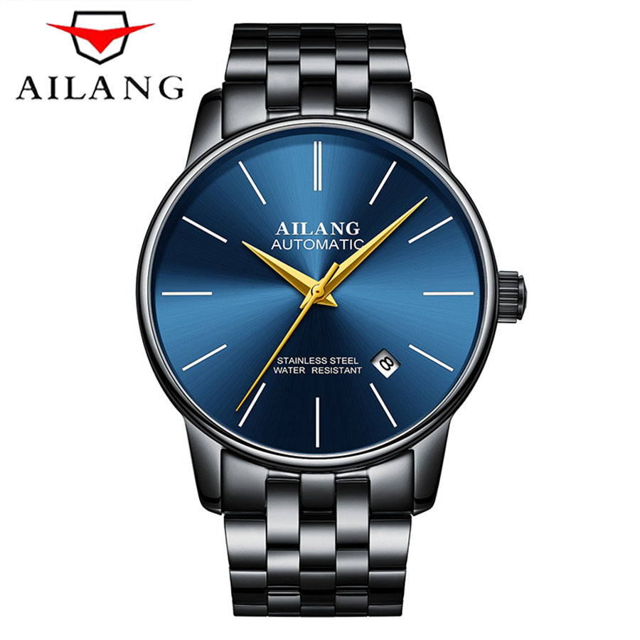 2017 AILANG Utra Thin Mechanical Watches 30m Waterproof Stainless Steel Band Business Wristwatches Mens Watches Top Brand Luxury 2016 hot sale top brand ailang luxury men watches casual fashion waterproof stainless steel wristwatches mechanical watch