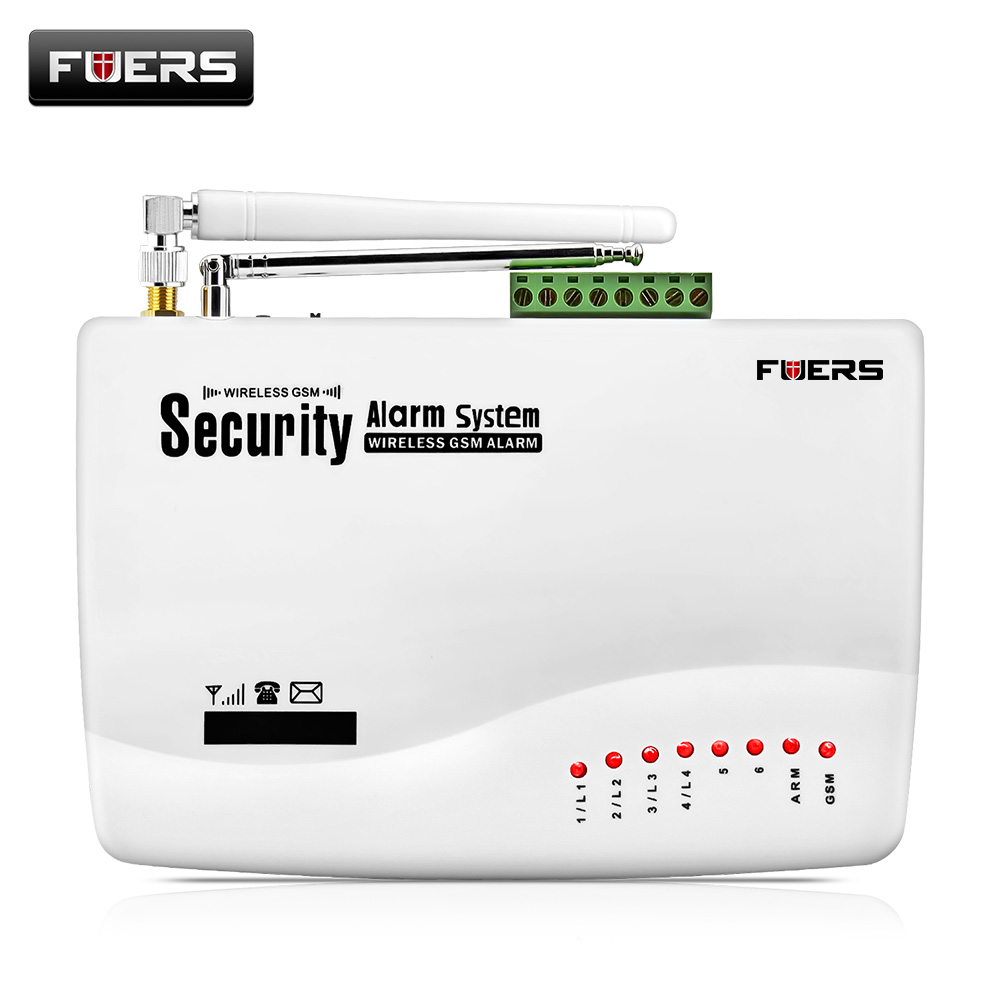 Fuers GSM 10A Home Security Burglar Alarm System Auto Dialing SMS Call Remote Control Wireless Wired GSM Alarm System Panel