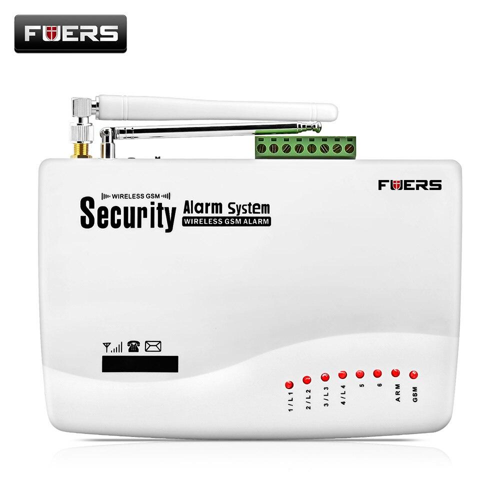 Fuers GSM 10A bezpieczeństwo w domu System antywłamaniowy automatyczne wybieranie SMS Call pilot bezprzewodowy przewodowy Alarm GSM Panel systemowy
