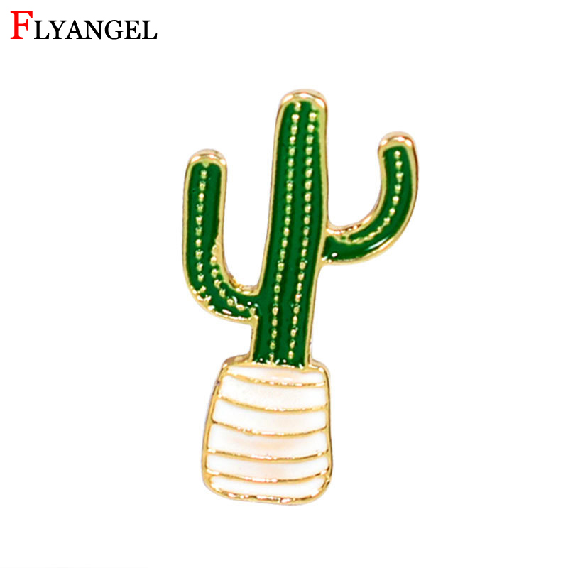 Shawl Kilt Pin Men Women Plants Coconut Tree Cactus Leaves DIY Button Brooch Decorative Clothing Cartoon Pins Badge Jewelry Gift