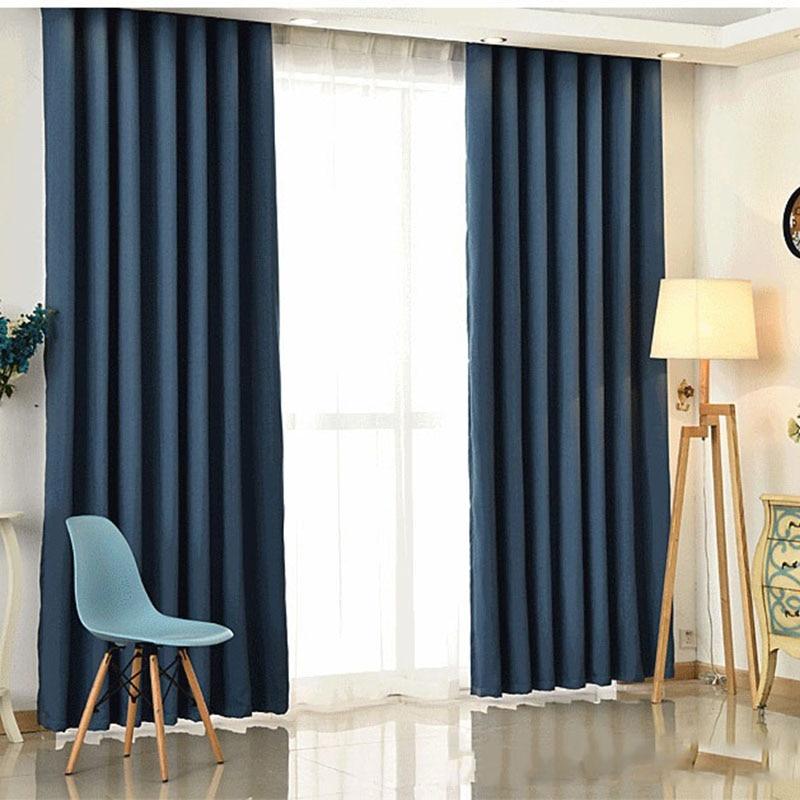 aliexpress.com : acquista stile moderno di colore solido faux lino ... - Tende Per Soggiorno Stile Moderno 2
