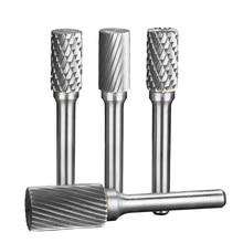 6 мм хвостовик УСЗ Burr Биты для инструмент Dremel металла, Деревообработка маршрутизатор шлифования высокой Скорость резак одиночный разрез боры